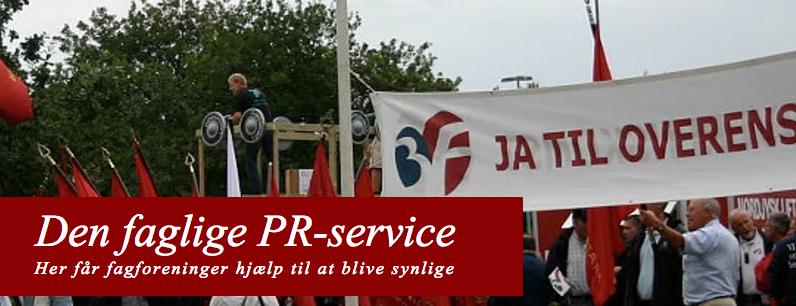 Den faglige PR-service hjælper fagforeninger med kommunikation